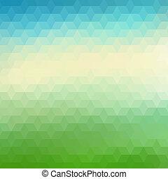geometrico, colorito, fondo, triangoli