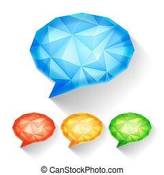 geometrico, discorso, bolle