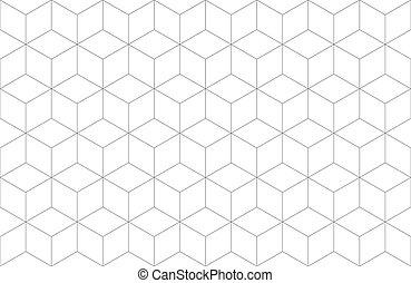 geometrico, esagonale, fondo, seamless, modello, linea