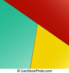 geometrico, fondo., colorito, astratto, vettore