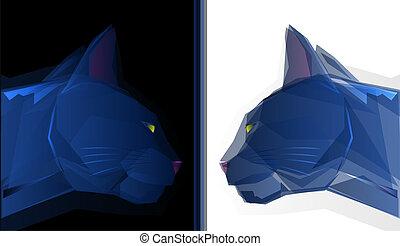 geometrico, gatto