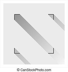 geometrico, icona, quadrato