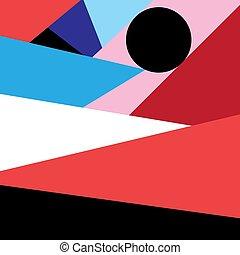 geometrico, oggetti, astratto, luminoso, fondo, interessante