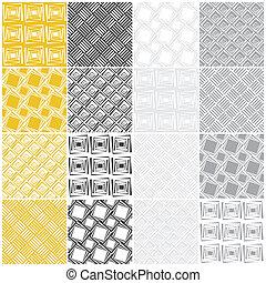 geometrico, seamless, patterns:, squadre