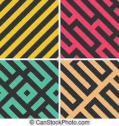 geometrico, seamless, vettore, modelli