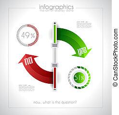 geometrics, -, infographic, projektować, szablon, oryginał