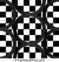 geometrics, muster, verrückt, b&w, seamless