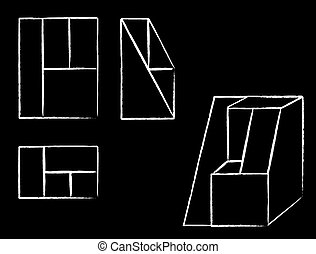 geometrie figuren geometrie graue figuren. Black Bedroom Furniture Sets. Home Design Ideas
