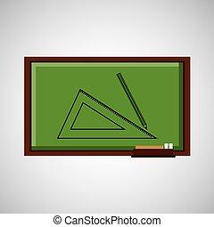 geometrie, tafel, begriff, bildung