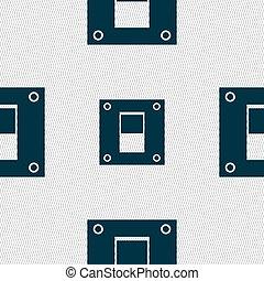 geometrisch, abstract, achtergrond, seamless, macht, switch, pictogram, teken., shapes.