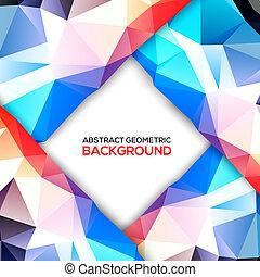 geometrisch, achtergrond, 3d