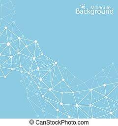 geometrisch, achtergrond, molecule, en, communicatie, voor,...