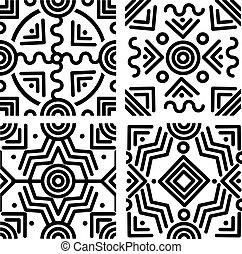 geometrisch, achtergronden, seamless