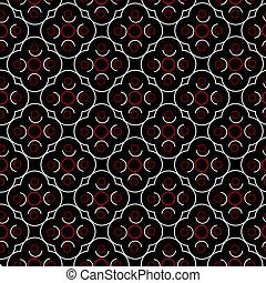 geometrisch, gedaantes, black , retro, achtergrond, wit rood
