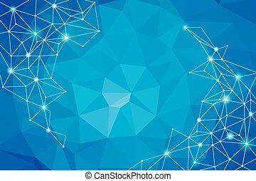 geometrisch, hintergrund., blaues, technologie