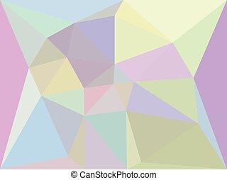 geometrisch, iridescent, achtergrond