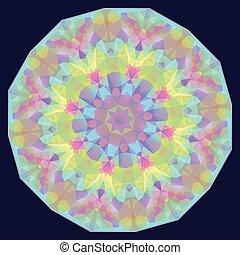 geometrisch, iridescent, ronde, achtergrond