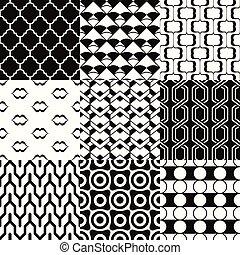 geometrisch, masche, seamless, tapete