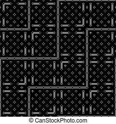 geometrisch ontwerp, monochroom, model, seamless