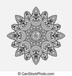 geometrisch, ornament, radiaal
