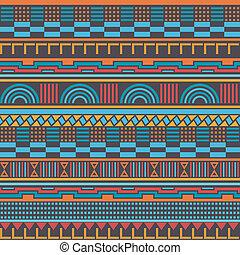 geometrisch patroon, seamless, retro