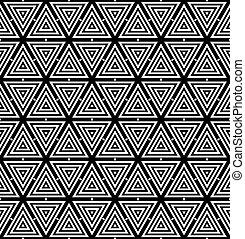 geometrisch, pattern., seamless, driehoeken, texture.