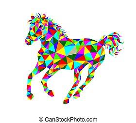 geometrisch, pferd