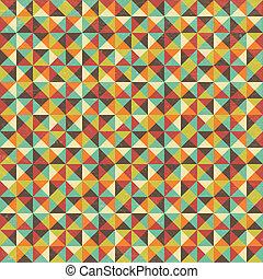 geometrisch, plein, driehoek, seamless, achtergrond