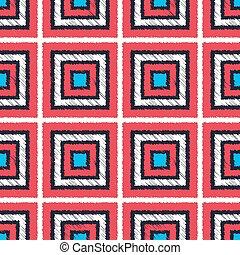 geometrisch, seamless, fliesenmuster, quadrat