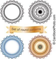 geometrisch, set, ronde