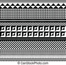 geometrisch, vector, pattern., illustratie