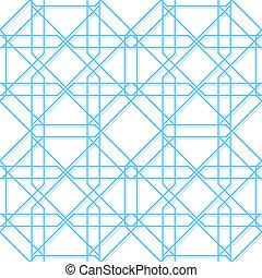 geometrisch, vector, seamless, textuur