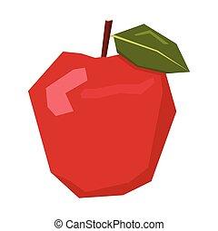 geometrisch, vrijstaand, appel