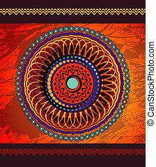 geometrische vorm, afrikaan