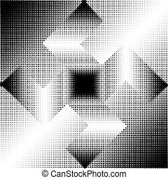 geometrische vorm, halftone