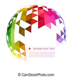 geometrisk, bakgrund, abstrakt, färgrik