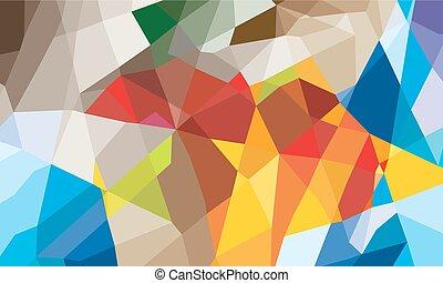 geometrisk, färgrik, bakgrund, abstrakt