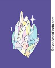 geometrisk, krister, gnistra