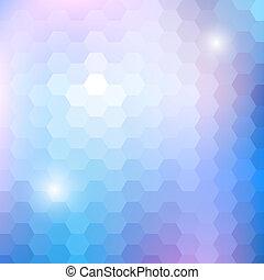 geometrisk, lysande, mönster, med, sexhörning