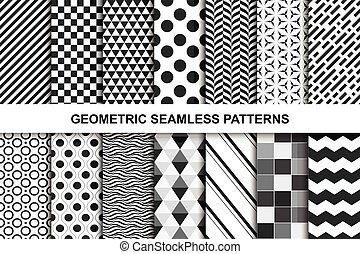 geometrisk, mönster,  seamless, Kollektion