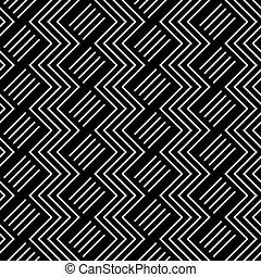 geometrisk, pattern., seamless, sicksack