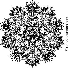 geometrisk, prydnad, radialdäck