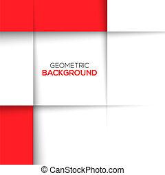 geometrisk, röd fond, 3