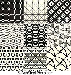 geometrisk, svart, /, bakgrund, vit