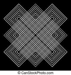 geometrisk, vektor, illusions
