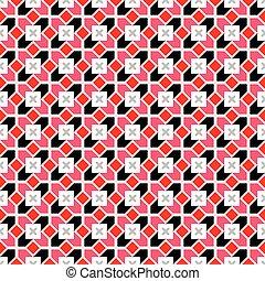 geometrisk, vektor, seamless, mönster