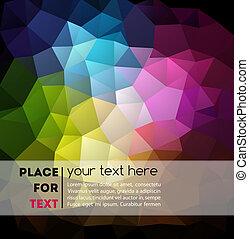 geometriske, baggrund, abstrakt, farverig
