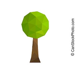 geometriske, træ, ikon