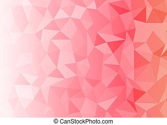 geometrix, rood, abstract, rechthoek, achtergrond.