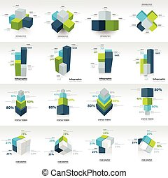 geometry cube infographic template